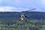 mi 24 hind soviet heavy attack helicopter poster