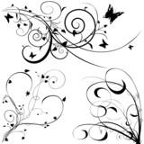 Floral elements A - popular floral segments poster