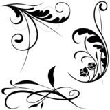 Floral elements B - popular floral segments poster