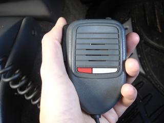 uhf radio in hand
