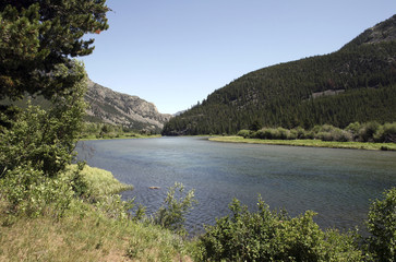 Sioux Charlie Lake located in the Absaroka Mountains of Montana