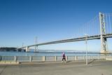 Runner and Bay Bridge poster