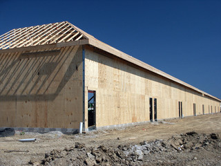 New construction of retail space strip mall