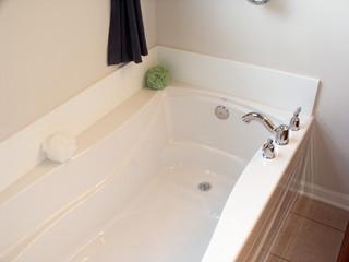 Bathtub in new bathroom