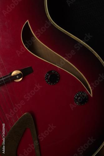 Close up of a jazz guitar