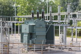 Electrical Transformer in sub-station poster