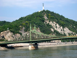Gellert Hill and Freedom Bridge, Budapest poster
