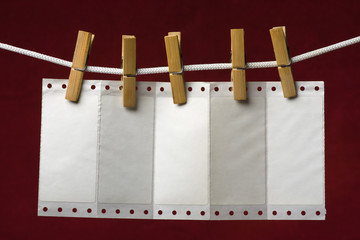 perforation paper attach clothes-peg