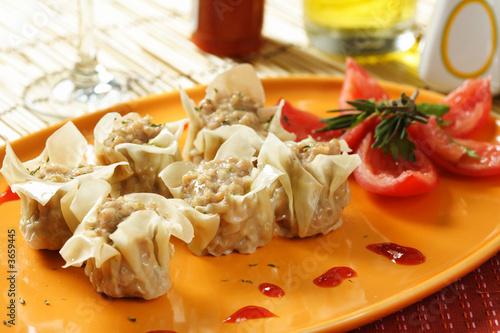 Chinese dimsum dish Poster