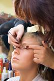 Longer lashes in salon poster
