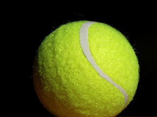 the tennis ball