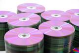DVD or CD disks storage pile . poster