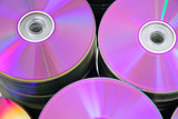 DVD or CD disks storage abstract . poster