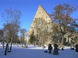 Cemetery and St. Brigitta convent ruins. Tallinn, Estonia. poster