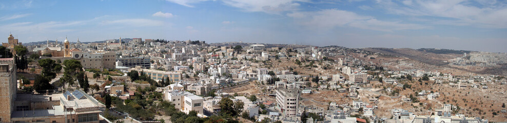 Panoramic view of Bethlehem, Israel