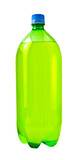 A close up on a soda bottle isolated on white poster