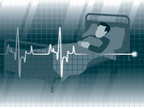A lifeline in an electrocardiogram and a patient poster