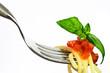 Fork with tomato pesto spaghetti