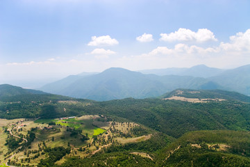 Mountain landscape. Spain, view from high mountain.