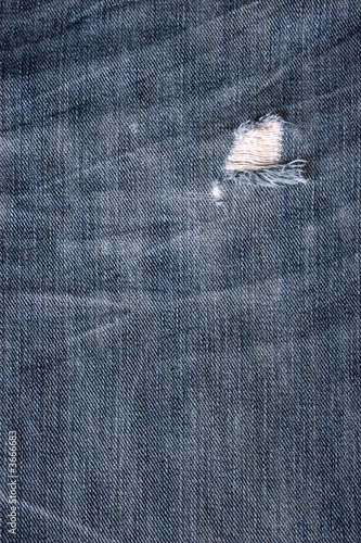Blue Jean Texture With Hole