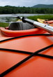 Perspective of Lake in Upstate New York From Red Kayak