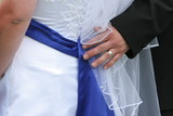 hand back of dress blue bow poster