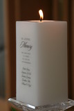 in memory white candle honor honorary poster