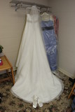 wedding gown dress white hanging shoe poster