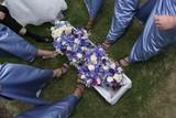 flowers, bouquet dress gown shoes poster
