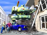 attack combat robot poster