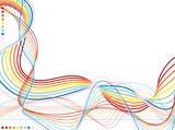 Wavy rainbow flow poster