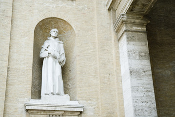 Before the church as a sacred place for franciscans