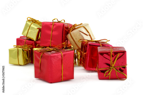 various gifts against white background