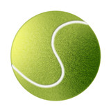 drawn tennis ball isolated on white poster