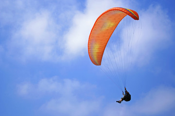flying with paragliding