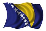 Flag of Bosnia Herzegovina waving in the wind poster
