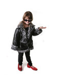 Child Playing Dress Up With Copyspace on White poster