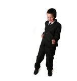 Young Child in a Tuxedo With Copyspace poster