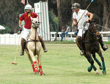 Two Polo Players & Ponies poster