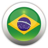 Brazil Flag Aqua Button poster