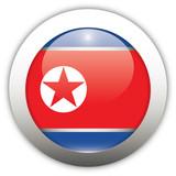 North Korea Flag Aqua Button poster