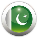 Pakistan Flag Aqua Button poster