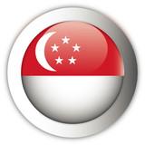 Singapore Flag Aqua Button poster