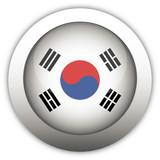 South Korea Flag Aqua Button poster