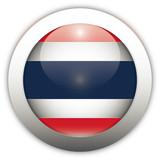 Thailand Flag Aqua Button poster