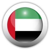 UAE Flag Aqua Button poster