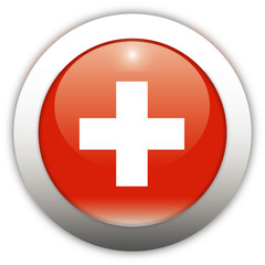 Switzerland Flag Aqua Button