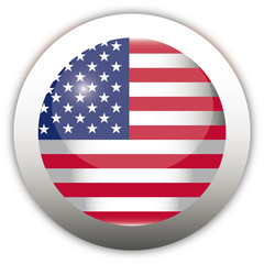 U.S.A. Flag Aqua Button
