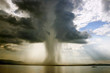 the begining of the tornado over the lake