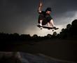 skateboarder melon grab over the hip